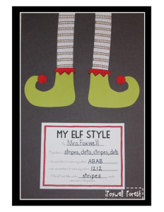 My Elf Style {A Pattern Craftivity}