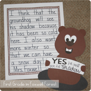 Is That His Shadow? {A Groundhog Day Craftivity} and a FREEBIE!!
