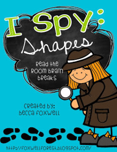 I Spy: Shapes {Read the Room Brain Breaks}