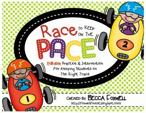 Race to Keep Up the Pace: Editable Practice and Intervention Activities