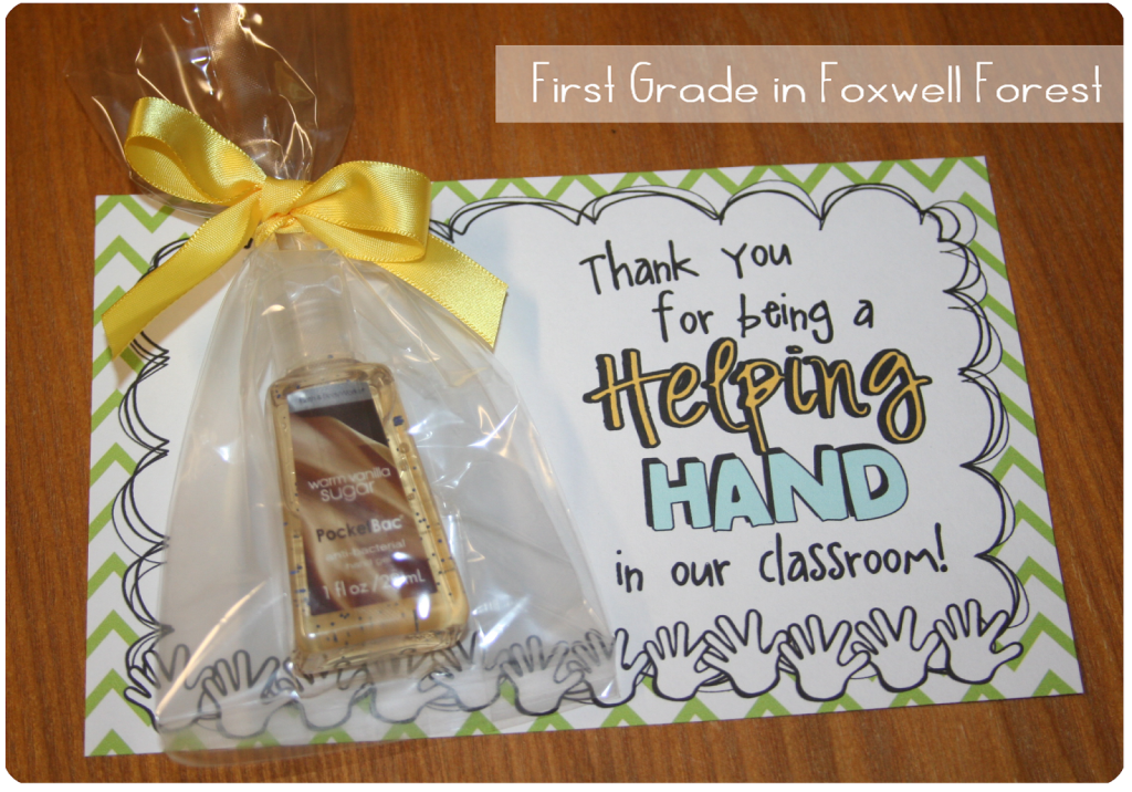 Classroom Thank You Ideas ~ Volunteer thank you gift foxwell forest