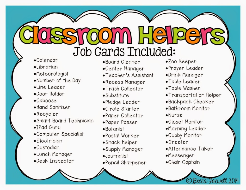 Classroom Helpers_6 on Leader In Me Bulletin Board