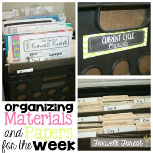 Organizing Materials and Papers for the Week