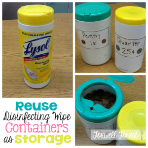 Reuse Disinfecting Wipe Containers for Storage