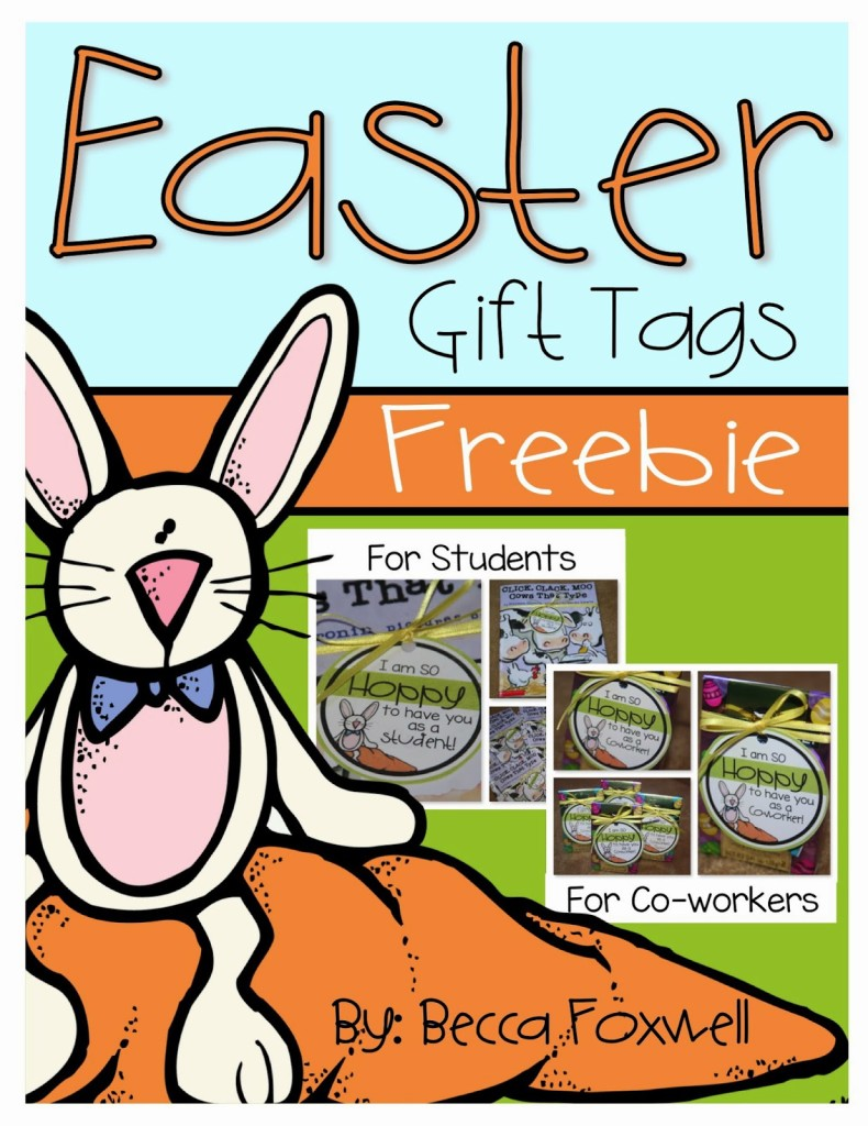 Easter gift tag freebie foxwell forest so today i am stopping by to share a little freebie that i made for my students and co workers for this easter negle