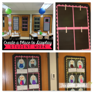 Easy Tip for Hanging Student Work in the Classroom!
