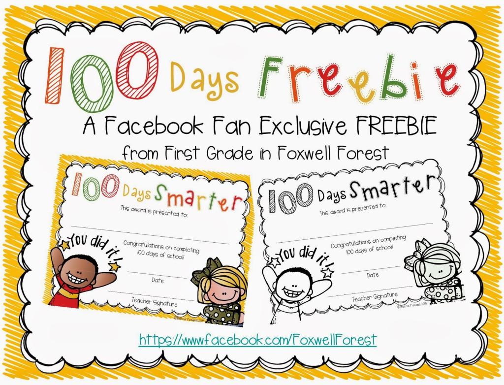image regarding 100 Days Smarter Printable identified as 100 Times Smarter FREEBIE - Foxwell Forest