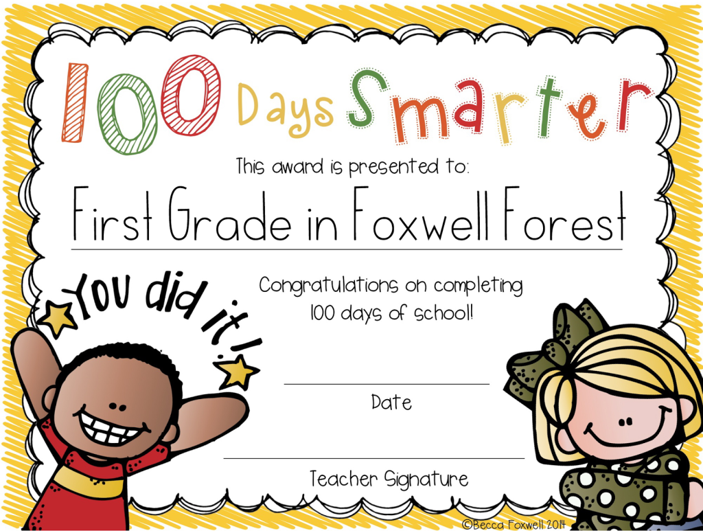 graphic about 100 Days Smarter Printable known as 100 Times Smarter FREEBIE - Foxwell Forest