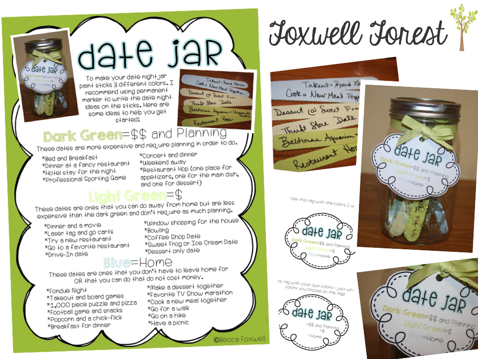 Keep Family First A Date Jar Freebie Foxwell Forest